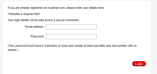 Royal Mail Login